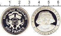 Изображение Монеты Того 500 франков 2000 Серебро Proof-