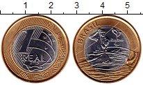 Изображение Монеты Южная Америка Бразилия 1 реал 2015 Биметалл UNC-