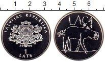 Изображение Монеты Латвия 1 лат 2009 Серебро Proof