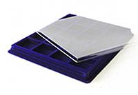 Изображение Аксессуары для монет Другие Пластиковый планшет на 20 ячеек (47х47х16мм) С 0   Внешний размер планш