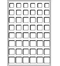 Изображение Аксессуары для монет Другие Пластиковый планшет на 48 ячеек (30х30х5мм) С 0