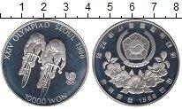Изображение Монеты Южная Корея 10000 вон 1988 Серебро Proof-