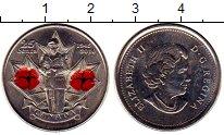 Изображение Монеты Северная Америка Канада 25 центов 2010 Медно-никель UNC-