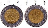 Изображение Монеты Европа Сан-Марино 500 лир 1991 Биметалл UNC-