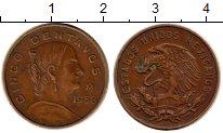 Изображение Монеты Мексика 5 сентаво 1958 Бронза XF Орел