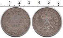 Изображение Монеты Германия Франкфурт 1 гульден 1845 Серебро XF