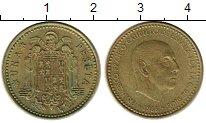 Изображение Монеты Испания 1 песета 1966 Латунь XF