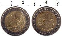Изображение Монеты Европа Монако 2 евро 2001 Биметалл UNC-