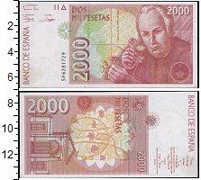 Изображение Банкноты Европа Испания 2000 песет 1992  UNC-