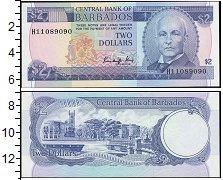 Изображение Банкноты Барбадос 2 доллара 0  UNC