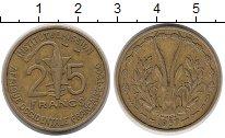 Изображение Монеты Западная Африка 25 франков 1957 Латунь XF