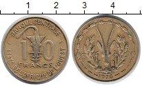 Изображение Монеты Западная Африка 10 франков 1976 Латунь XF