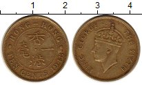 Изображение Монеты Гонконг 10 центов 1948 Латунь XF
