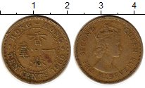 Изображение Монеты Гонконг 10 центов 1960 Латунь XF Елизавета II