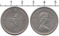 Изображение Монеты Гонконг 1 доллар 1980 Медно-никель XF