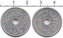 Изображение Монеты Азия Индонезия 5 сен 1951 Алюминий XF