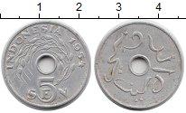 Изображение Монеты Азия Индонезия 5 сен 1954 Алюминий XF