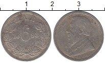 Изображение Монеты ЮАР 6 пенсов 1893 Серебро XF