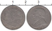 Изображение Монеты Африка ЮАР 6 пенсов 1893 Серебро XF