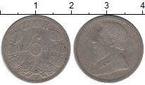 Изображение Монеты Африка ЮАР 6 пенсов 1894 Серебро XF