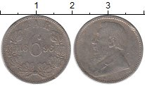 Изображение Монеты ЮАР 6 пенсов 1896 Серебро XF
