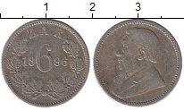 Изображение Монеты Африка ЮАР 6 пенсов 1896 Серебро XF