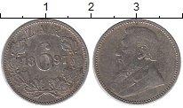 Изображение Монеты ЮАР 6 пенсов 1897 Серебро XF