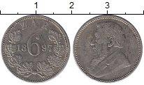 Изображение Монеты Африка ЮАР 6 пенсов 1897 Серебро XF