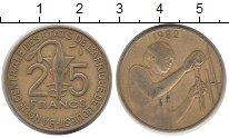 Изображение Монеты Западная Африка 25 франков 1982 Латунь VF