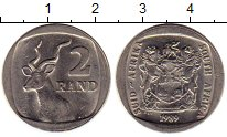 Изображение Монеты Африка ЮАР 2 ранда 1989 Медно-никель XF