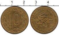 Изображение Монеты Центральная Африка 10 франков 1985 Латунь XF