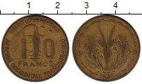 Изображение Монеты Западная Африка 10 франков 1956 Латунь VF