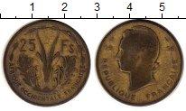 Изображение Монеты Великобритания Западная Африка 25 франков 1956 Латунь VF