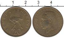 Изображение Монеты Танзания 20 сенти 1984 Латунь XF