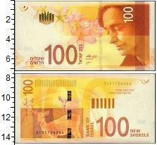 Изображение Банкноты Израиль 100 шекелей 2017  UNC