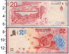 Изображение Банкноты Южная Америка Аргентина 20 песо 2017  UNC