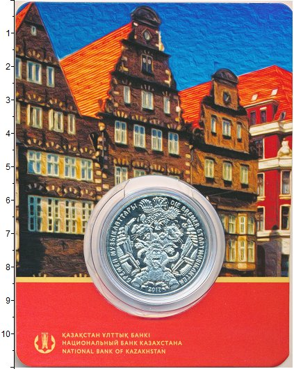 Изображение Подарочные монеты Казахстан 100 тенге 2017 Медно-никель UNC