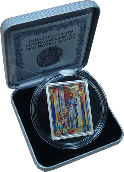 Изображение Подарочные монеты СНГ Казахстан 500 тенге 2017 Серебро Proof