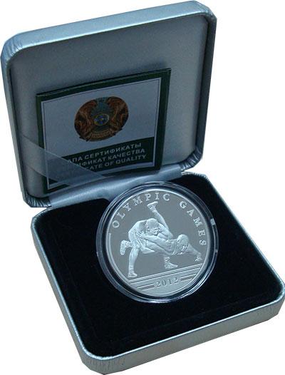 Изображение Подарочные монеты СНГ Казахстан 100 тенге 2010 Серебро Proof