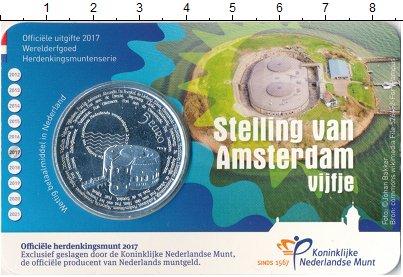 Изображение Мелочь Нидерланды 5 евро 2017 Посеребрение Proof