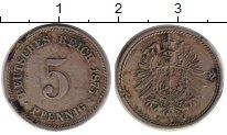 Изображение Монеты Германия 5 пфеннигов 1875 Медно-никель XF J