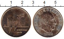 Изображение Монеты Норвегия 20 крон 2016 Латунь UNC-