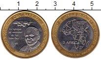 Изображение Монеты Центральная Африка 4500 франков 2007 Биметалл UNC- Визит  Понтифика  Ио