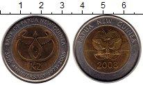 Изображение Монеты Австралия и Океания Папуа-Новая Гвинея 2 кины 2008 Биметалл UNC-