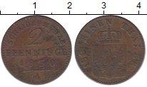 Изображение Монеты Германия Пруссия 2 пфеннига 1850 Медь XF-