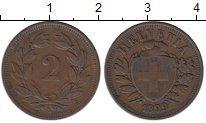 Изображение Монеты Швейцария 2 раппа 1899 Бронза XF
