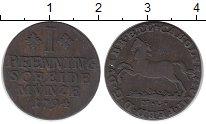 Изображение Монеты Брауншвайг-Вольфенбюттель 1 пфенниг 1794 Медь XF-