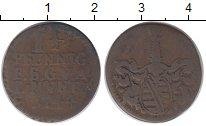 Изображение Монеты Германия Саксе-Кобург-Гота 1 1/2 пфеннига 1744 Медь VF
