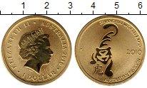 Изображение Монеты Австралия 1 доллар 2010 Латунь UNC ЭКСПО Тигр