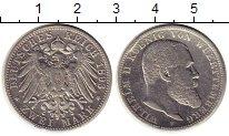 Изображение Монеты Германия Вюртемберг 2 марки 1893 Серебро VF